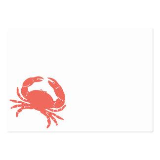 Cangrejo costero tarjetas de visita grandes
