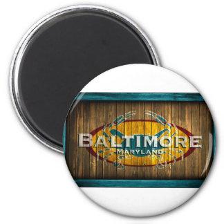 Cangrejo de Baltimore Imán Redondo 5 Cm