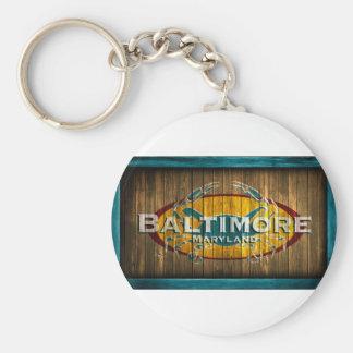 Cangrejo de Baltimore Llavero Redondo Tipo Pin