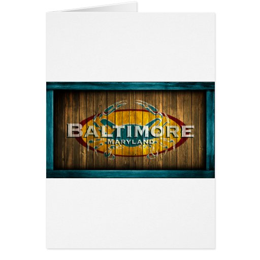 Cangrejo de Baltimore Tarjeta De Felicitación