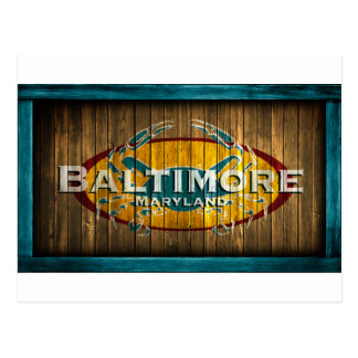 Cangrejo de Baltimore Tarjeta Postal