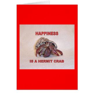 Cangrejo de ermitaño #14 tarjeta de felicitación