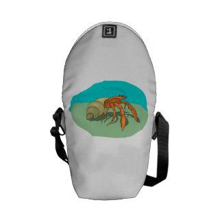 Cangrejo de ermitaño bolsas de mensajería