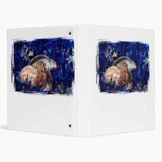 Cangrejo de ermitaño con malla azul del día de fie