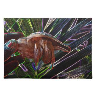 cangrejo de ermitaño fuera de la chispa de la manteles individuales