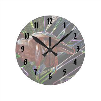 cangrejo de ermitaño fuera de la chispa de la reloj redondo mediano