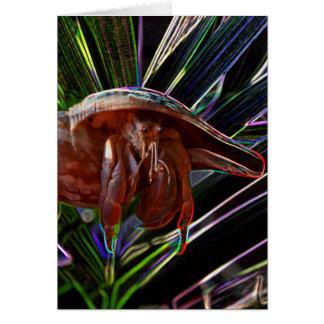 cangrejo de ermitaño fuera de la chispa de la tarjeta de felicitación