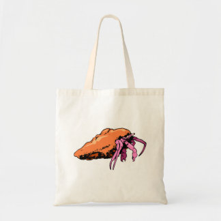 Cangrejo de ermitaño rosado bolsa de mano