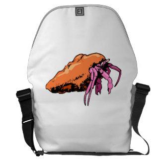 Cangrejo de ermitaño rosado bolsas messenger