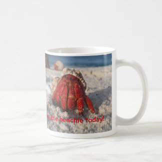 Cangrejo de ermitaño taza de café