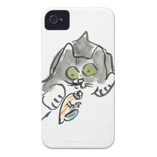 Cangrejo de ermitaño y gatito iPhone 4 Case-Mate fundas