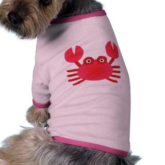 Cangrejo de la diversión camisa de perrito