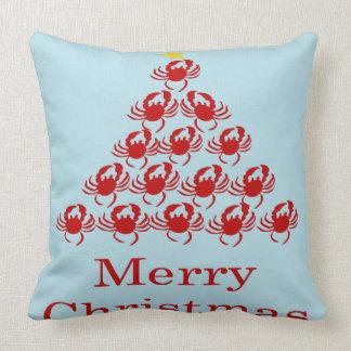 Cangrejo de las Felices Navidad Almohadas