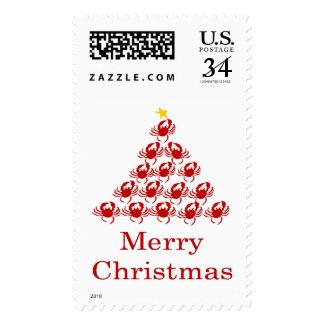 Cangrejo de las Felices Navidad Sello Postal