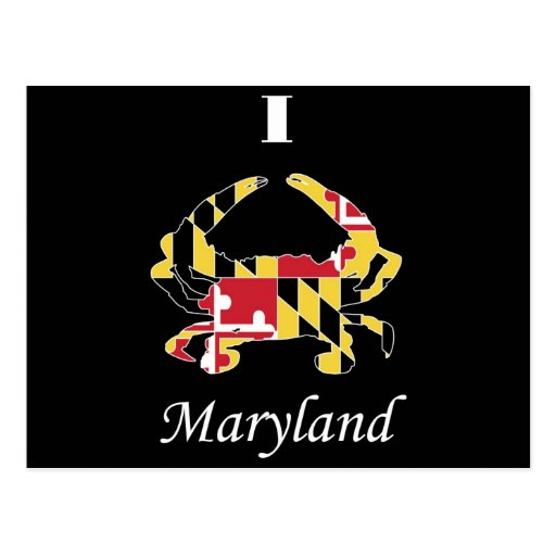 Cangrejo de Maryland del amor Postales