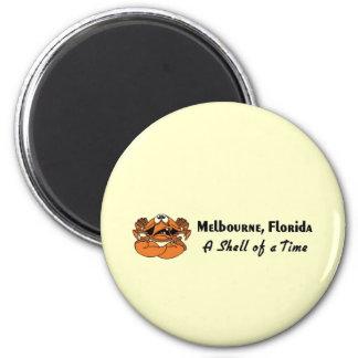 Cangrejo de Melbourne, la Florida Imán Redondo 5 Cm