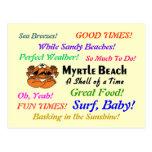Cangrejo de Myrtle Beach Postales