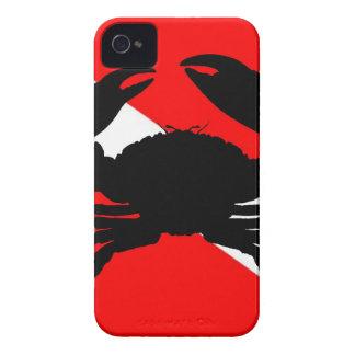 Cangrejo de piedra de la bandera de la zambullida carcasa para iPhone 4 de Case-Mate