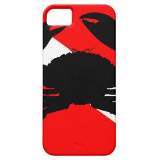 Cangrejo de piedra de la bandera de la zambullida funda para iPhone SE/5/5s