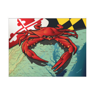 Cangrejo del ciudadano de Maryland Impresión En Lona Estirada