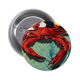 Cangrejo del ciudadano de Maryland Pin Redondo 5 Cm