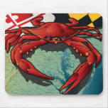 Cangrejo del ciudadano de Maryland Tapetes De Ratón