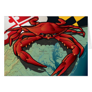 Cangrejo del ciudadano de Maryland Tarjeta De Felicitación