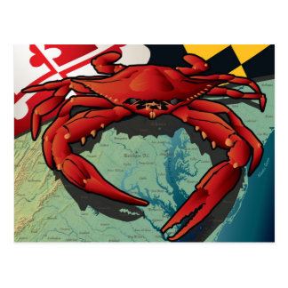 Cangrejo del ciudadano de Maryland Tarjeta Postal