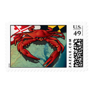 Cangrejo del ciudadano de Maryland Timbre Postal