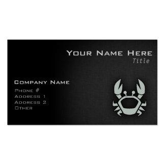 Cangrejo del gris de ceniza tarjetas de visita