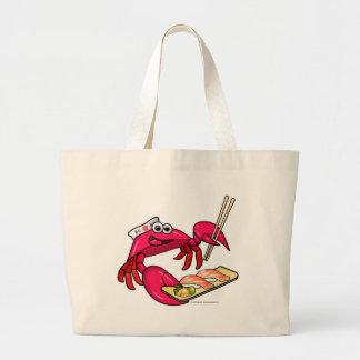 Cangrejo del sushi bolsa tela grande