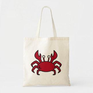 Cangrejo divertido simple del rojo del dibujo anim bolsas