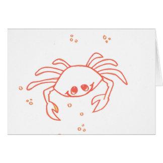Cangrejo genial tarjeta de felicitación