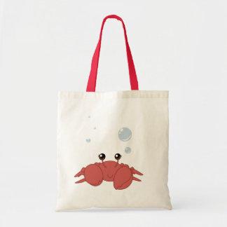 Cangrejo lindo bolsas de mano