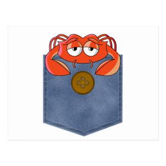 Cangrejo malhumorado del bolsillo de Jean Postales