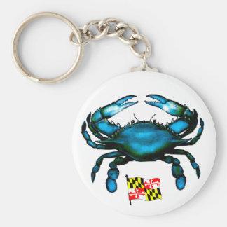 Cangrejo Maryland-Azul Llavero Redondo Tipo Pin