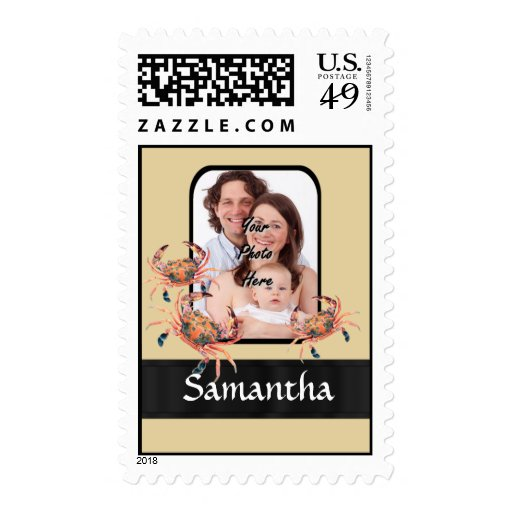 Cangrejo personalizado sello postal
