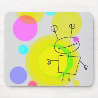 cangrejo pintado de los puntos alfombrilla de ratones