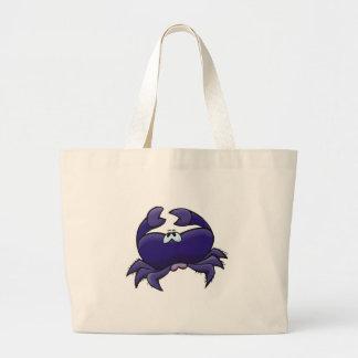 cangrejo púrpura lindo bolsa tela grande