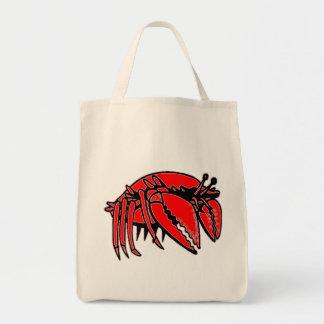Cangrejo rojo bolsa lienzo