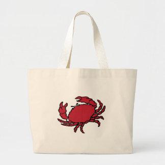 Cangrejo rojo bolsas de mano