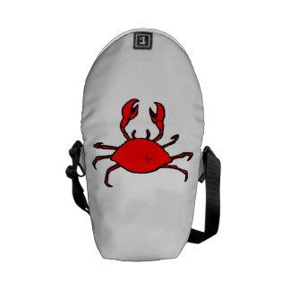 Cangrejo rojo bolsa de mensajería