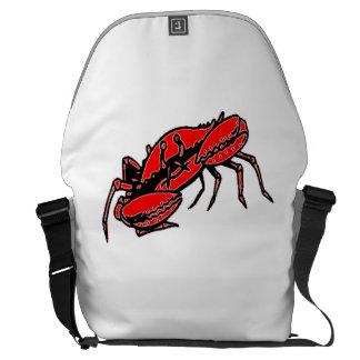 Cangrejo rojo bolsas de mensajería