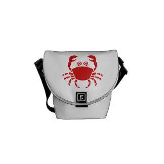 Cangrejo rojo bolsas messenger