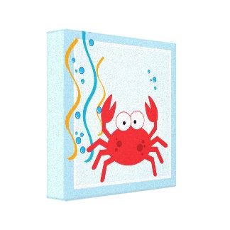 Cangrejo rojo debajo de la impresión del arte de l impresión de lienzo