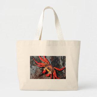 Cangrejo rojo del lightfoot del sally del fuego bolsa lienzo