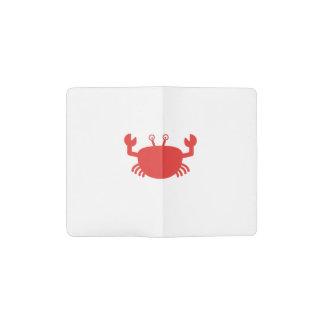 Cangrejo rojo funda para libreta y libreta pequeña moleskine