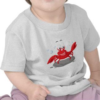 Cangrejo rojo lindo camiseta