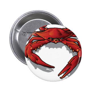 Cangrejo rojo pin redondo 5 cm
