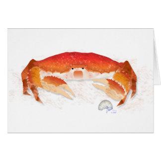 Cangrejo rojo tarjeta de felicitación